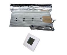 HoWaTech AL 520 Elektrische Laminat Fußbodenheizung   Set mit Heizmatte und Regler Digital: 10.00m²