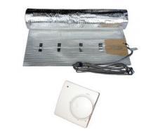 HoWaTech AL 510 Elektrische Laminat Fußbodenheizung | Set mit Heizmatte und Regler Standard: 9.00m²