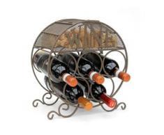 Weinregal Metall Flaschenregal 83131 Weinschrank Flaschenständer Korkenbehälter - AMBIENTE HAUS
