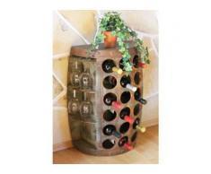 Dandibo - Weinregal Weinfass Nr.1486 Beistelltisch Schrank Fass aus Holz 72 cm Weinbar Bar