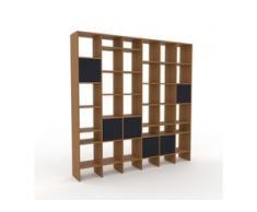 Holzregal Eiche - Skandinavisches Regal aus Holz: Türen in Anthrazit - 233 x 233 x 35 cm, Personalisierbar