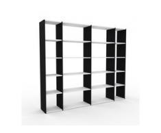 Regalsystem Schwarz - Flexibles Regalsystem: Hochwertige Qualität, einzigartiges Design - 229 x 195 x 35 cm, Komplett anpassbar
