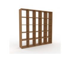 Holzregal Eiche, Holz - Skandinavisches Regal aus Holz: Hochwertige Qualität, einzigartiges Design - 195 x 195 x 35 cm,...