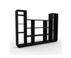 Regalsystem Schwarz - Flexibles Regalsystem: Hochwertige Qualität, einzigartiges Design - 231 x 162 x 35 cm, Komplett anpassbar