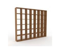 Holzregal Eiche, Holz - Skandinavisches Regal aus Holz: Hochwertige Qualität, einzigartiges Design - 272 x 233 x 35 cm,...