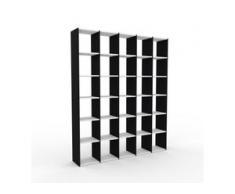 Bücherregal Schwarz - Modernes Regal für Bücher: Hochwertige Qualität, einzigartiges Design - 195 x 233 x 35 cm, Individuell...
