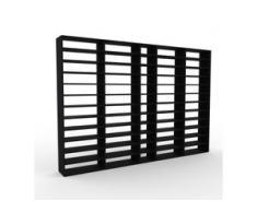Bibliotheksregal Schwarz - Individuelles Regal für Bibliothek: Einzigartiges Design - 339 x 233 x 35 cm, konfigurierbar