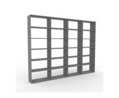 Bücherregal Grau - Modernes Regal für Bücher: Hochwertige Qualität, einzigartiges Design - 301 x 233 x 35 cm, Individuell...