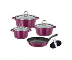 Kochtopf-Set, Aluguss, Induktion, 9 Teile, »GOURMET PREMIUM COLOR«, GSW Rot