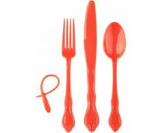To-Go Besteckset (4-tlg. Set) in orange von bonprix
