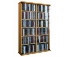 Regal DVD CD Rack Medienregal Medienschrank Aufbewahrung Holzregal Standregal Möbel Bluray Möbel VCM Buche