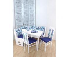 4tlg. Eckbankgruppe Inga Weiß/Blau