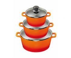 KING® Aluguss Kochtopfset 6-teilig inklusive Henkelpads KING Orange