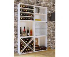 Wein-Regalserie Regal Weinregal Weinschrank Weinflaschen Schrank Holz Würfel Flaschen Aufbewahrung VCM Weino V: Weiß