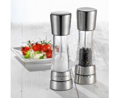 Cole & Mason Geschenkset Salzmühle und Pfeffermühle Derwent Edelstahl/Acryl, 190 mm