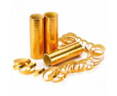 Luftschlangen Metallic, gold