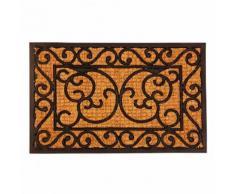 Fußmatte Winston, 1,1x39,5x59,5 cm, Gummi und Kokos, schwarz