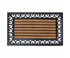 Fußmatte Viktoria, 1,8x76x45 cm, Gummi, Kokos, schwarz