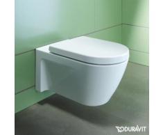 Duravit Starck 2 Wand-Tiefspül-WC L: 54 B: 37 cm weiß, mit WonderGliss 25340900001