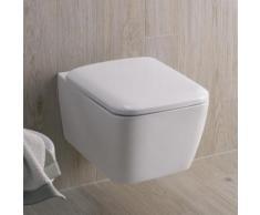 Geberit iCon Square Wand-Tiefspül-WC L: 54 B: 35 cm, spülrandlos weiß, mit KeraTect 201950600
