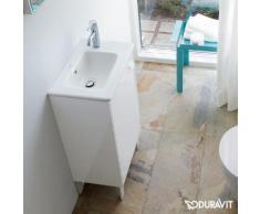 Duravit ME by Starck Handwaschbecken B: 43 T: 30 cm weiß, mit WonderGliss, mit Überlauf 07234300001