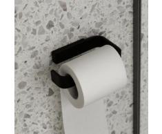 Menu Toilettenpapierhalter B: 140 H: 25 T: 87 mm schwarz matt 7640539