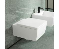 Villeroy & Boch Memento 2.0 Wand-Tiefspül-WC B: 37,5 L: 56 cm, spülrandlos stone white, mit CeramicPlus 4633R0RW
