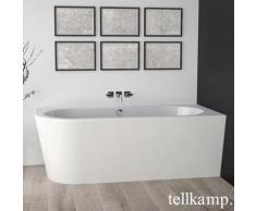 Tellkamp Pio XS L Eck-Badewanne mit Verkleidung L: 165 B: 75,5 H: 60 cm, Raumecke rechts weiß glanz, Schürze weiß glanz, mit Wanneneinlauf 0100-055-00-L-AUF/CR