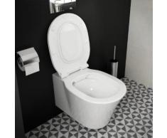 Ideal Standard Connect Air Wand-Tiefspül-WC, ohne Spülrand L: 54,5 B: 36,5 cm weiß, mit Ideal Plus E0155MA