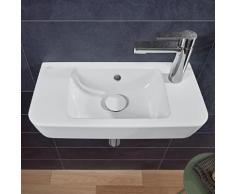 Villeroy & Boch O.novo Compact Handwaschbecken B: 50 T: 25 cm weiß, mit 1 Hahnloch rechts, mit Überlauf 4342R501