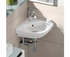 Villeroy & Boch Subway 2.0 Eck-Handwaschbecken B: 32 T: 32 cm weiß mit CeramicPlus, mit Überlauf 731945R1