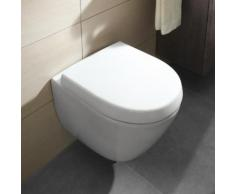 Villeroy & Boch Subway 2.0 Wand-Tiefspül-WC Compact L: 48 cm B: 35,5 cm ohne Spülrand, weiß, mit CeramicPlus 5606R0R1
