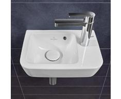Villeroy & Boch O.novo Compact Handwaschbecken B: 36 T: 25 cm, Becken links weiß, mit Überlauf 43433601