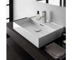 Kartell by Laufen Waschtisch B: 50 T: 46 cm weiß, mit Clean Coat und 1 Hahnloch, geschliffen H8163324001041
