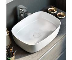 Roca Inspira Waschtisch-Schale soft B: 50 H: 14 T: 37 cm weiß, mit MaxiClean A32750000M