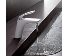 Kludi BALANCE Waschtischarmatur ohne Ablaufgarnitur, chrom/weiß 520269175