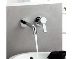 Kludi ZENTA Waschtischarmatur für Wandmontage Ausladung: 230 mm 382450575