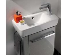 Geberit Renova Compact Handwaschbecken B: 50 T: 25 cm weiß mit Keratect 276150600