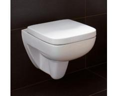 Geberit Renova Plan Wand-Tiefspül-WC, L: 54 B: 36 cm ohne Spülrand, weiß, mit KeraTect 202170600