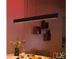 PHILIPS Hue White and color ambiance Ensis LED Pendelleuchte B: 129,8 H: 166 T: 7 cm, schwarz 4090330P9, EEK: A+