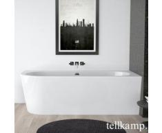 Tellkamp Pio L Raumspar-Badewanne mit Verkleidung L: 178 B: 78 H: 60 cm, Raumecke rechts weiß glanz, Schürze weiß glanz, mit Wanneneinlauf 0100-077-00-L-AUF/CR