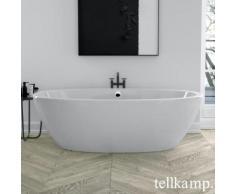 Tellkamp Space Freistehende Oval-Badewanne L: 190 B: 94 H: 60 cm weiß glanz, ohne Füllfunktion 0100-088-00-A/CR