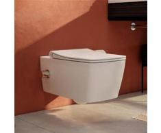 VitrA Aquacare Metropole Wand-Tiefspül-WC-Set mit Bidetfunktion L: 56,5 B: 34 cm, mit WC-Sitz mit integrierter Thermostat-Armatur 7672B003-6204