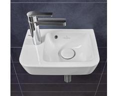 Villeroy & Boch O.novo Compact Handwaschbecken B: 36 T: 25 cm, Becken rechts weiß, mit Überlauf 43423601