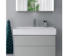Duravit DuraSquare Waschtisch B: 80 T: 47 cm weiß, mit WonderGliss, mit 1 Hahnloch, geschliffen 23538000711