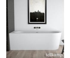Tellkamp Pio R Eck-Badewanne mit Verkleidung L: 178 B: 78 H: 60 cm, Raumecke links weiß matt, Schürze weiß matt, ohne Füllfunktion 0100-277-00-R-A/CRWM