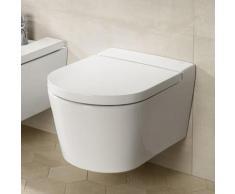 Roca Inspira Wand-Tiefspül-WC round L: 56 B: 37 cm weiß, mit MaxiClean A34652700M