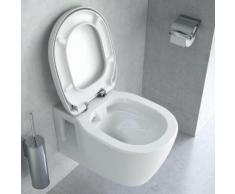 Ideal Standard Connect Wand-Tiefspül-WC L: 54 B: 36 cm, ohne Spülrand, mit WC-Sitz weiß K296001