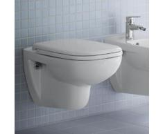 Duravit D-Code Wand-Tiefspül-WC L: 54,5 B: 35,5 cm mit Spülrand, weiß, mit HygieneGlaze 2535092000