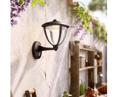 PHILIPS myGarden Robin LED Wandleuchte mit Bewegungsmelder B:17,4 H:26 T:22,8 cm, schwarz 154793016, EEK: A+
